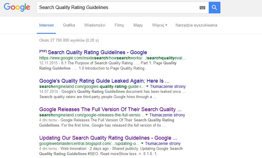 Analiza nowych wytycznych Google